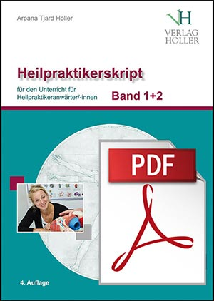 Heilpraktiker-Skript Band 1+2 von Arpana Tjard Holler, gebundene Ausgaben plus PDF-Datei