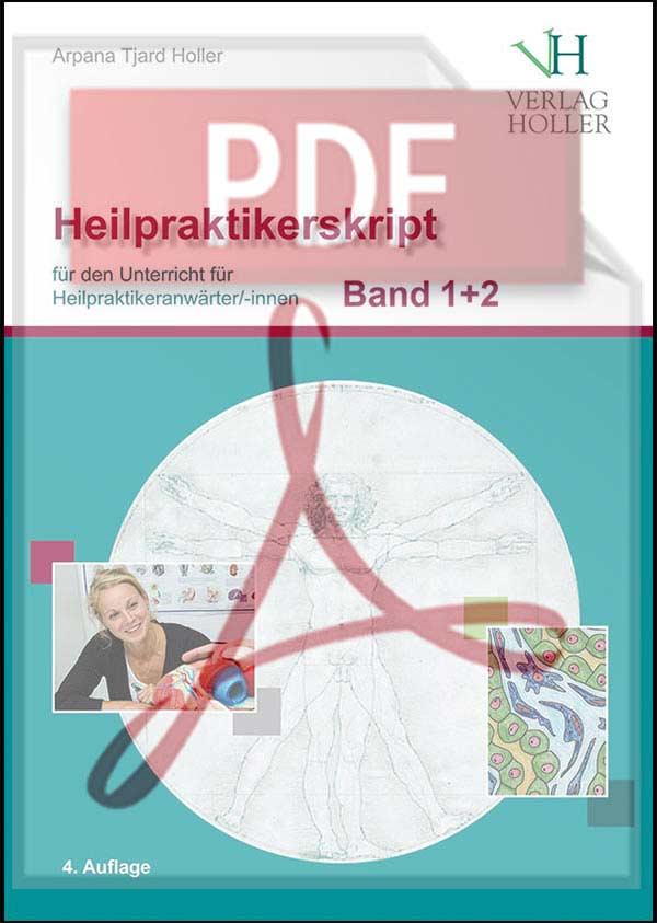 Heilpraktiker-Skript Band 1+2 von Arpana Tjard Holler, als PDF-Datei
